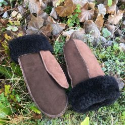 Women's Brown Sheepskin Mittens