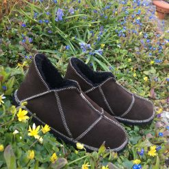 Men's Brown Sheepskin Slippers