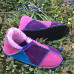Sheepskin Slippers Purple Pink Ocean