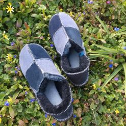 Sheepskin Slippers Grey Indigo