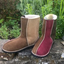 Sheepskin Boots Bark Damson Indigo Willow