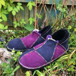 Sheepskin Slippers Purple and Indigo