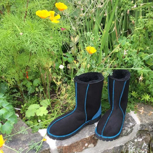 Black Sheepskin Boots with a difference