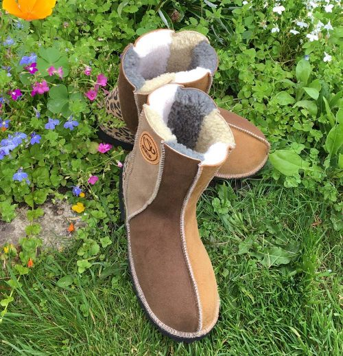 Sheepskin Boots Natural Colours