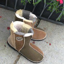 Sheepskin Boots Willow Oatmeal and Bark