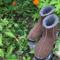 Sheepskin Shortie Boots Soft Brown