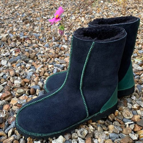 Sheepskin Boots Indigo Green