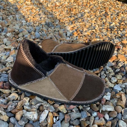 Sheepskin Slippers Shades of Brown