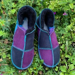 Sheepskin Slippers Purple Indigp Ocean