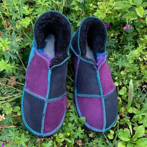 Sheepskin Slippers Purple Indigp Ocean