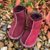 Baby Sheepskin Boots Damson Wine Grey