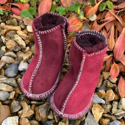 Baby Sheepskin Boots Damson Wine Grey