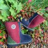 Sheepskin Boots Indigo Damson Willow Bark