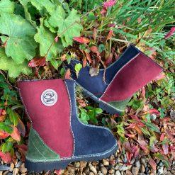 Sheepskin Boots Indigo Damson Willow Bark