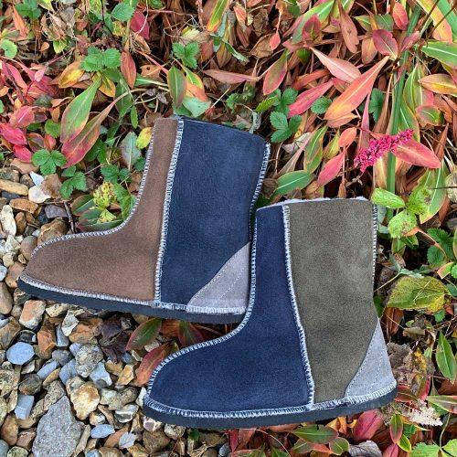 Kid's Sheepskin Boots Bark Willow Slate