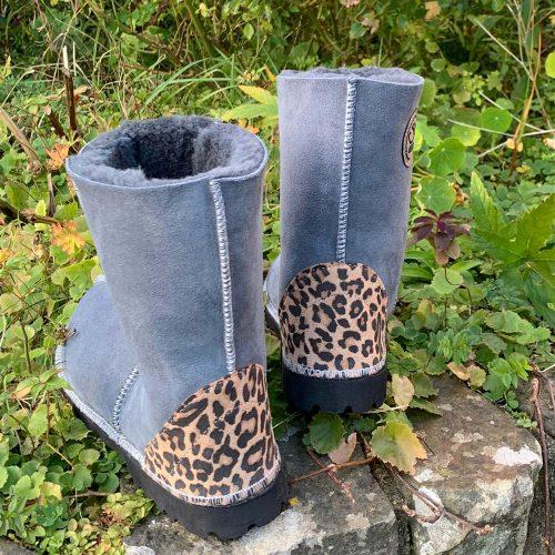 Grey Sheepskin Boots