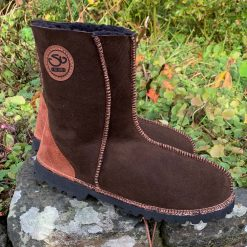 Brown Sheepskin Boots Gorgeous Embroidery