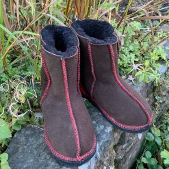 Kid's Sheepskin Boots Mocca Red