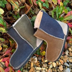 Kid's Sheepskin Boots Bark Willow Slate