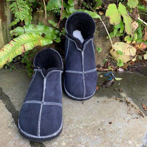 Sheepskin Slippers Indigo