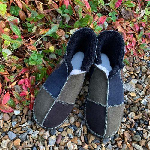 Men's Sheepskin Slippers Mocca Indigo Willow