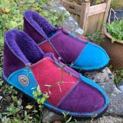 Sheepskin Slippers Purple Ocean Wine