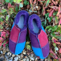 Sheepskin Slippers Purple Ocean Wine