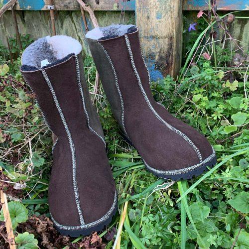 Men's Sheepskin Boots Brown