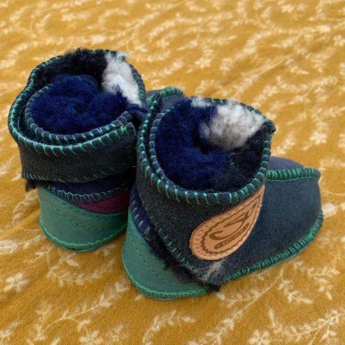 Baby Sheepskin boots Navy