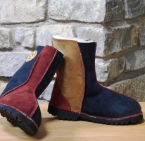 Traditional Navy, Russet & Spice  Sheepskin