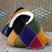 Sheepskin-Bag-in-Ginger,-Moss,-Purple,-Aubergine-Black-&-Fernjpg
