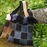 Sheepskin-bag-in-black-&-grey-with-rainbow-thread
