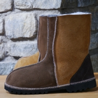 Sheepskin Boots in Spice and Bark